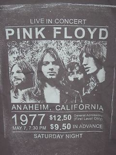 PINK FLOYD 1977 concert TOUR Rock & ROLL band Vintage RETRO MENS New M