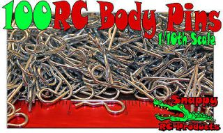 100 RC BODY CLIPS PINS For 1/10 SCALE Car Truck Buggy Boat Crawler