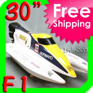 4G Fiberglass F1 Brushless Electric RC Speed Boat RTR