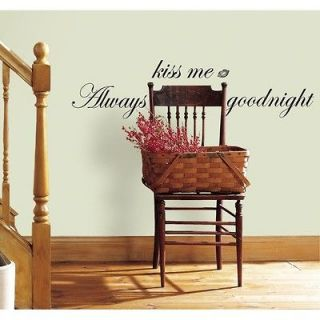 always kiss me goodnight wall decals in Decals, Stickers & Vinyl Art