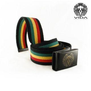 Rasta Reggae Belt Jamaica Jamaican Lion of Judah VIDA clothes Marley