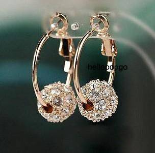 rose gold ball earrings in Fashion Jewelry
