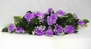 ROSE SWAG LAVENDER Wedding Table Centerpiece Silk Flowers Arch Gazebo