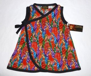 New Rockabilly Tattoo Punk Guadalupe wrap toddler baby girl dress kid