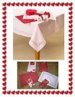 Valentines Day Tablecloth Pink Or Red Cut Out Edging Hearts/Flowers 3