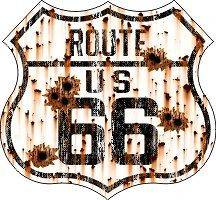 Vintage Route 66 Bullet Holes sticker decal 3.2x3
