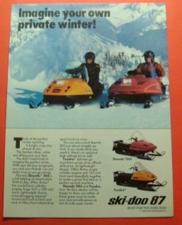 SKI DOO SNOWMOBILESSKANDIC 503 & TUNDRA Ad ArtROTAX ENGINES Print