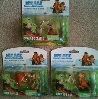 Ice Age Figures Limited Edition   Scrat, Scratte, Sid, Buck, Diego