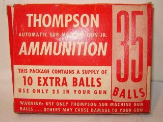 Vintage 1950s AMMO FOR THOMPSON SUBMACHINE GUN TOY MIP