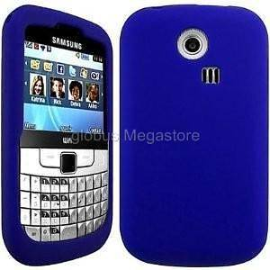 BLUE SiLiCONE CASE COVER SKIN POUCH for Samsung Chat 335 S3350