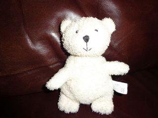 Russ White Teddy Bear Terry Cloth Fabric Plush Soft Toy Stuffed Animal
