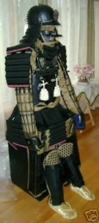 Japanese Rüstung Art Samurai Black Armor wearable Armor