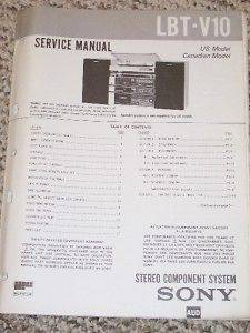 Sony LBT V10 Stereo Component System Service Manual
