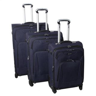 Jourdan Hassle Free Lightweight 3 Piece Expandable Spinner Luggage Set