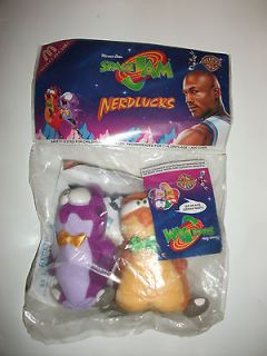 New NIP McDonalds 1996 Warner Bros. Space Jam Nerdlucks Plush Toy