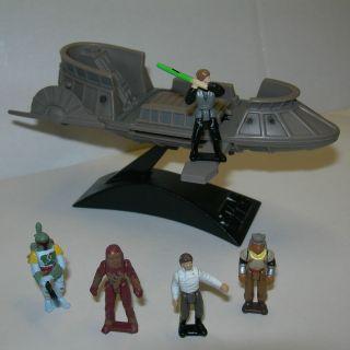 Star Wars MICRO MACHINES Action Fleet DESERT TATOOINE SKIFF w/ Figures