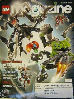 LEGO CLUB Magazine Jan Feb 2008 Bionicle Phantoka   Indiana Jones
