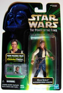 Star Wars POTF Han Solo Commtech Chip with Blaster/Holste​r Action