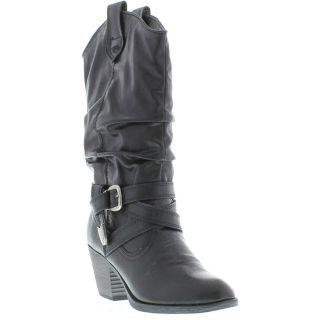 Rocket Dog Boots Genuine Side Step Womens Black Boot Sizes UK 4   8