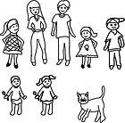 Figure Sticker Stick Family People Bumper Decal Car Window Sticker