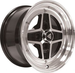 Set of 4 ● Enkei APACHE II Rims Wheels Black 15 4x100 4 100