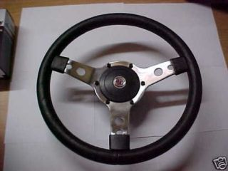 MG MGB Midget MGA TR Leather D Steering Wheel 14 & Hub