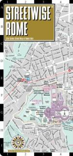 Streetwise Rome Map   Laminated City Center Street Map of Rome, Italy