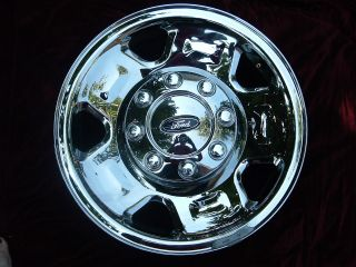 Ford F250SD F350SD chrome steel wheel rim OEM 17x7.5 3620 factory