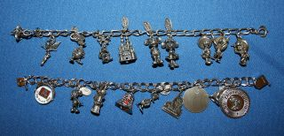 Sterling Silver Charm Bracelets Full of Disneyland Charms and Other