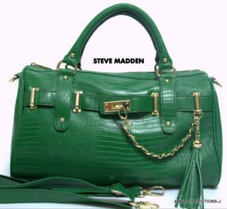 NWT  STEVE MADDEN GREEN SATCHEL PURSE