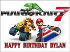 SUPER MARIO KART 7 Birthday topper Edible picture for Cake image 1/4