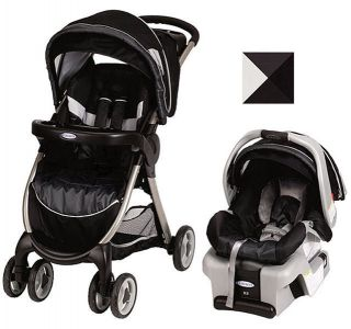 FastAction Fold Travel System Stroller w Snugride 30 Infant Car Seat