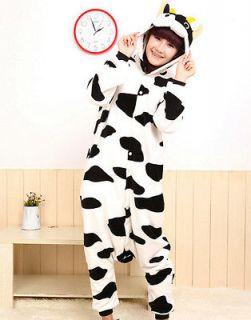Cow Pajamas Animal Pyjamas Costume Cosplay Black&White Milk Kigurumi S