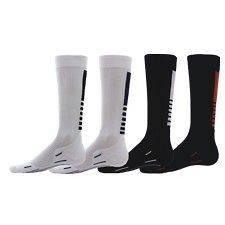 Compression Running Socks Mens Womens elite style black white red shin