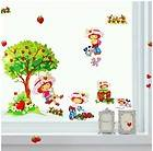 Kids Girls Room Wall Stickers Removable Decals   Strawberry Shortcake