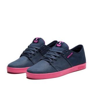 NIB SUPRA Stacks Low Top Shoes Navy / Magenta   Magenta Direct From
