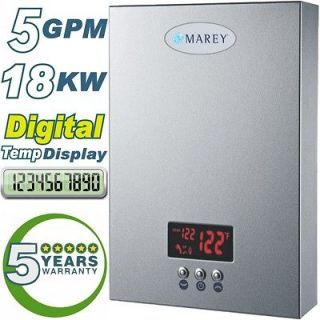 ELECTRIC TANKLESS WATER HEATER HOT WATER ON DEMAND 5 GPM 18KW 3 4 BATH