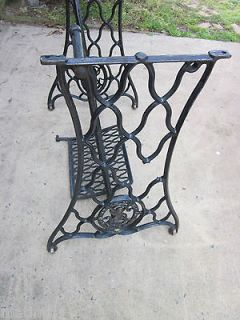 1885 Singer Sewing Machine Treadle Cast Iron StandIncomp​lete