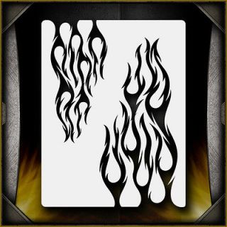 Tribal Flames 4 Airbrush Stencil Template Airsick