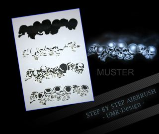 Airbrush Stencil Template 4 Steps AS 065 M Size 5,11 x 3,95