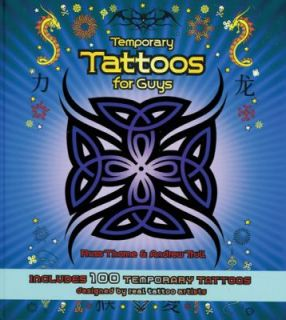 Temporary Tattoos for Guys Includes 100 Temporary Tattoos by Andrew