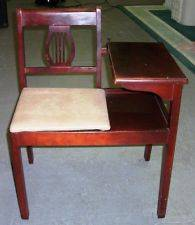 Vintage Gossip Bench Telephone Table Original Cherry FinishUnknown