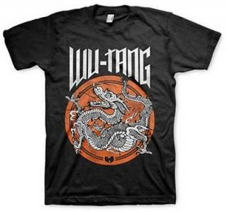 Wu Tang Clan Mens Dragon Dot Circle Black T Shirt X LARGE