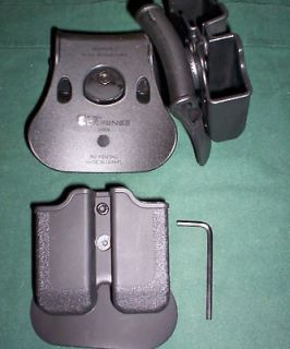 SWIVEL POUCH H&K HK P30 RUGER SR9 9mm only TAURUS 24/7 .40 only