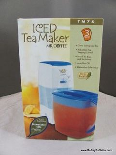 Mr. Coffee Iced Tea Maker Brewer TM75 3 Quart NIB New In Box