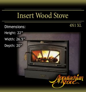 Appalachian 4N1 XL INSERT Wood Stove Fireplace TRIM KIT