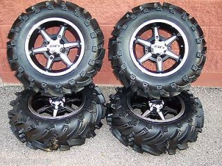 26 SUZUKI KING QUAD MUD TRAX ATV TIRE & 14 B6 WHEEL KIT COMPLETE