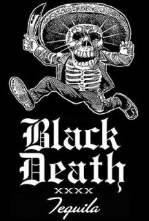 OUTLAW BIKER BLACK DEATH TEQUILA SHIRT! Size Large   MAS TEQUILA