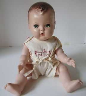 Vintage 1950s American Character 11 Tiny Tears Doll w/Original Romper