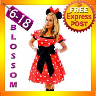 Minnie Mickey Mouse Fancy Dress Halloween Disney Theme Costume & Ears